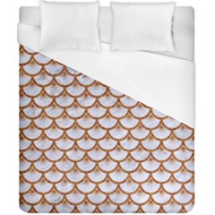 Scales3 White Marble & Rusted Metal (r) Duvet Cover (california King Size) by trendistuff