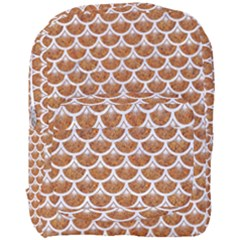 Scales3 White Marble & Rusted Metal Full Print Backpack by trendistuff
