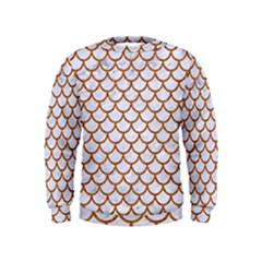 Scales1 White Marble & Rusted Metal (r) Kids  Sweatshirt by trendistuff