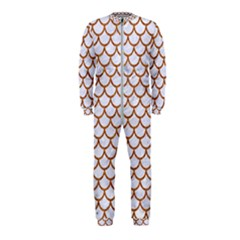 Scales1 White Marble & Rusted Metal (r) Onepiece Jumpsuit (kids) by trendistuff