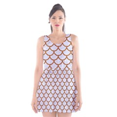 Scales1 White Marble & Rusted Metal (r) Scoop Neck Skater Dress by trendistuff