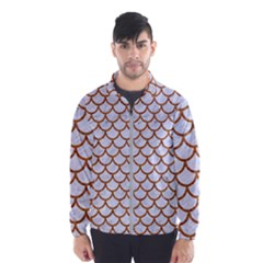 Scales1 White Marble & Rusted Metal (r) Wind Breaker (men) by trendistuff