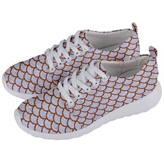 Scales1 White Marble & Rusted Metal (r) Men s Lightweight Sports Shoes by trendistuff