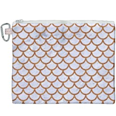 Scales1 White Marble & Rusted Metal (r) Canvas Cosmetic Bag (xxxl) by trendistuff
