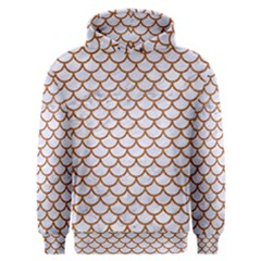 Scales1 White Marble & Rusted Metal (r) Men s Overhead Hoodie by trendistuff