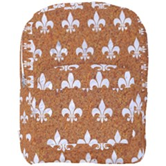 Royal1 White Marble & Rusted Metal (r) Full Print Backpack by trendistuff