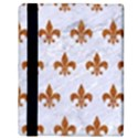 ROYAL1 WHITE MARBLE & RUSTED METAL Apple iPad Mini Flip Case View3