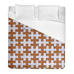 Puzzle1 White Marble & Rusted Metal Duvet Cover (full/ Double Size) by trendistuff