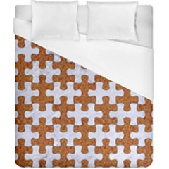 Puzzle1 White Marble & Rusted Metal Duvet Cover (california King Size) by trendistuff