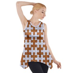 Puzzle1 White Marble & Rusted Metal Side Drop Tank Tunic by trendistuff
