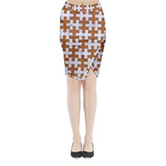Puzzle1 White Marble & Rusted Metal Midi Wrap Pencil Skirt by trendistuff