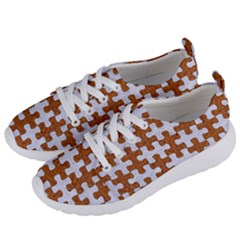 Puzzle1 White Marble & Rusted Metal Women s Lightweight Sports Shoes by trendistuff