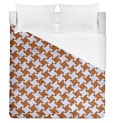 Houndstooth2 White Marble & Rusted Metal Duvet Cover (queen Size) by trendistuff