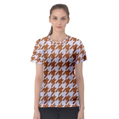 Houndstooth1 White Marble & Rusted Metal Women s Sport Mesh Tee by trendistuff