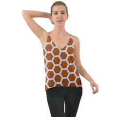 Hexagon2 White Marble & Rusted Metal Cami