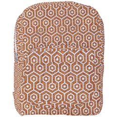 Hexagon1 White Marble & Rusted Metal Full Print Backpack by trendistuff