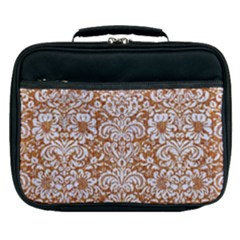 Damask2 White Marble & Rusted Metal Lunch Bag by trendistuff
