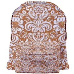 Damask2 White Marble & Rusted Metal Giant Full Print Backpack by trendistuff