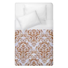 Damask1 White Marble & Rusted Metal (r) Duvet Cover (single Size) by trendistuff