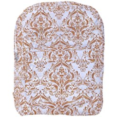 Damask1 White Marble & Rusted Metal (r) Full Print Backpack by trendistuff