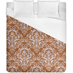 Damask1 White Marble & Rusted Metal Duvet Cover (california King Size) by trendistuff