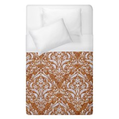 Damask1 White Marble & Rusted Metal Duvet Cover (single Size) by trendistuff