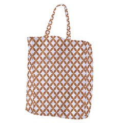 Circles3 White Marble & Rusted Metal (r) Giant Grocery Zipper Tote by trendistuff