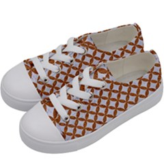 Circles3 White Marble & Rusted Metal (r) Kids  Low Top Canvas Sneakers by trendistuff