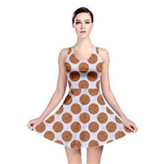Circles2 White Marble & Rusted Metal (r) Reversible Skater Dress by trendistuff