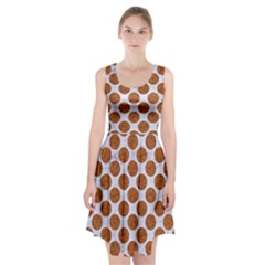Circles2 White Marble & Rusted Metal (r) Racerback Midi Dress by trendistuff
