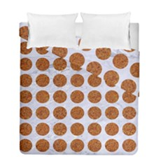 Circles1 White Marble & Rusted Metal (r) Duvet Cover Double Side (full/ Double Size) by trendistuff