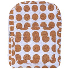 Circles1 White Marble & Rusted Metal (r) Full Print Backpack by trendistuff