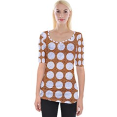 Circles1 White Marble & Rusted Metal Wide Neckline Tee by trendistuff