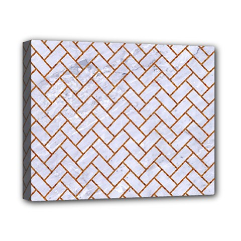 Brick2 White Marble & Rusted Metal (r) Canvas 10  X 8  by trendistuff