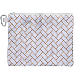 Brick2 White Marble & Rusted Metal (r) Canvas Cosmetic Bag (xxxl) by trendistuff