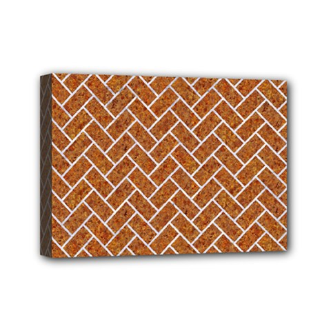 Brick2 White Marble & Rusted Metal Mini Canvas 7  X 5  by trendistuff