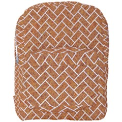 Brick2 White Marble & Rusted Metal Full Print Backpack by trendistuff