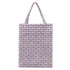 Brick1 White Marble & Rusted Metal (r) Classic Tote Bag by trendistuff