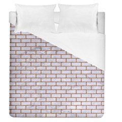 Brick1 White Marble & Rusted Metal (r) Duvet Cover (queen Size) by trendistuff