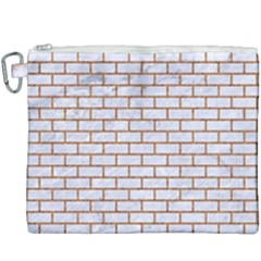 Brick1 White Marble & Rusted Metal (r) Canvas Cosmetic Bag (xxxl) by trendistuff