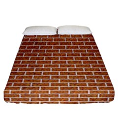 Brick1 White Marble & Rusted Metal Fitted Sheet (california King Size) by trendistuff