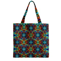 Pattern 16 Zipper Grocery Tote Bag by ArtworkByPatrick