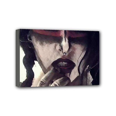 Femininely Badass Mini Canvas 6  X 4  by sirenstore