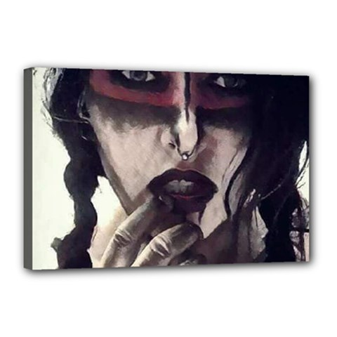 Femininely Badass Canvas 18  X 12  by sirenstore