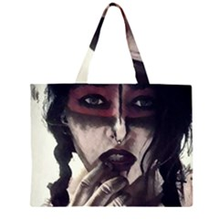 Femininely Badass Zipper Large Tote Bag by sirenstore