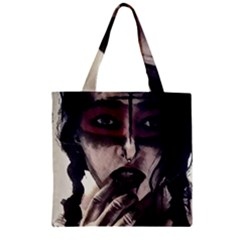 Femininely Badass Zipper Grocery Tote Bag by sirenstore