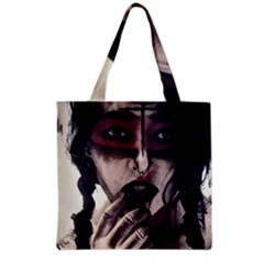 Femininely Badass Grocery Tote Bag by sirenstore