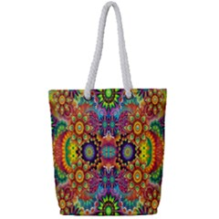 Artwork By Patrick Pattern 22 Full Print Rope Handle Tote (small) by ArtworkByPatrick