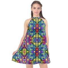 Artwork By Patrick Pattern 23 Halter Neckline Chiffon Dress  by ArtworkByPatrick