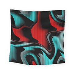 Hot Abstraction With Lines 3 Square Tapestry (small)